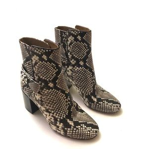 NEW Tory Burch Kira Snakeskin-embossed ankle boots